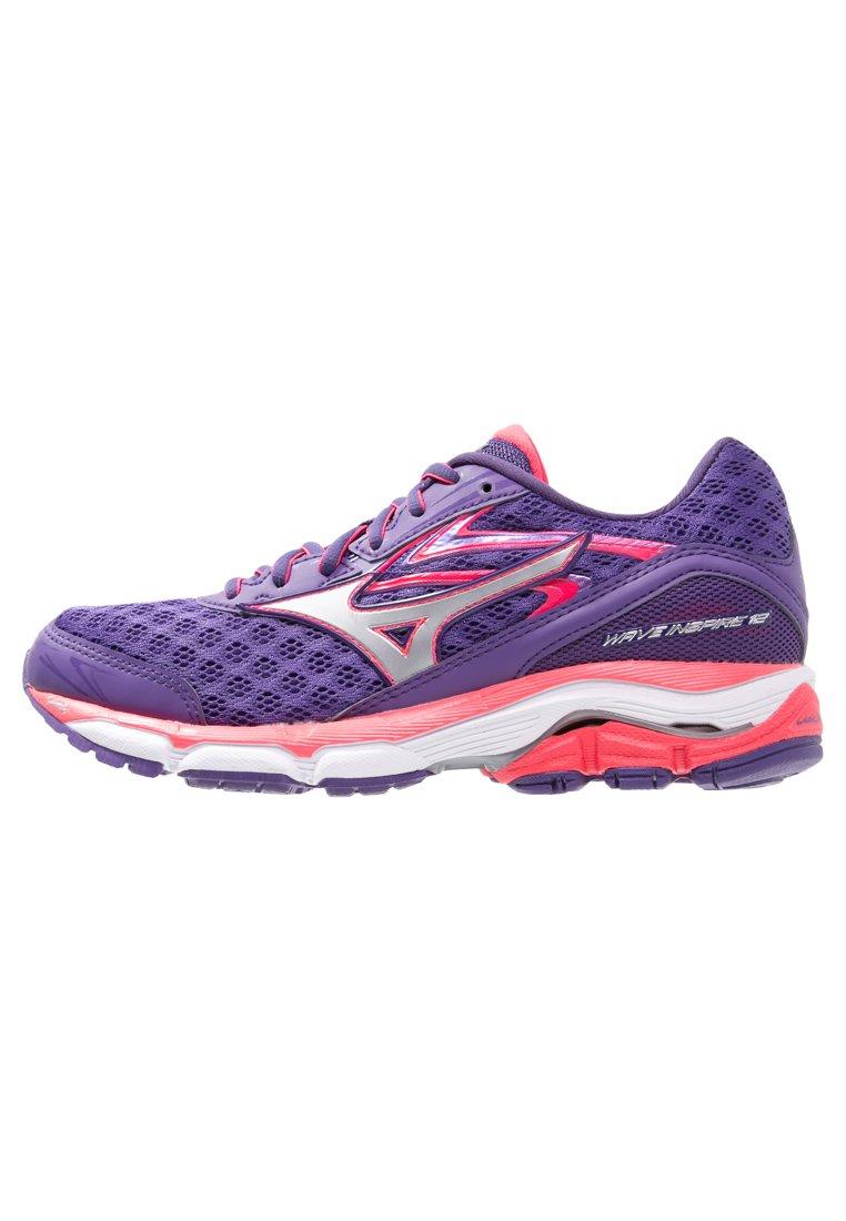 Mizuno WAVE INSPIRE 12 Zapatillas running de estabilidad royal purple/silver/diva pink