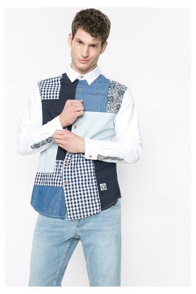 Desigual - Hombre - Camisa con patchwork y denim - Victor - Size M