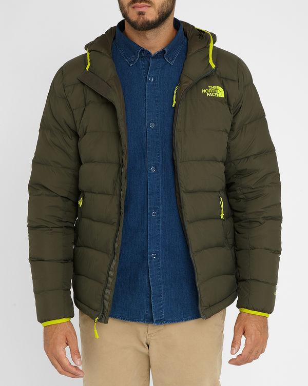 THE NORTH FACE, Khaki La Paz Hooded Down Jacket