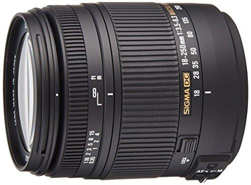 Sigma Objetivo para Nikon (distancia focal 18-250 mm, apertura F3.5-6.3 DC Macro, zoom óptico 2.9x, estabilizador) color negro