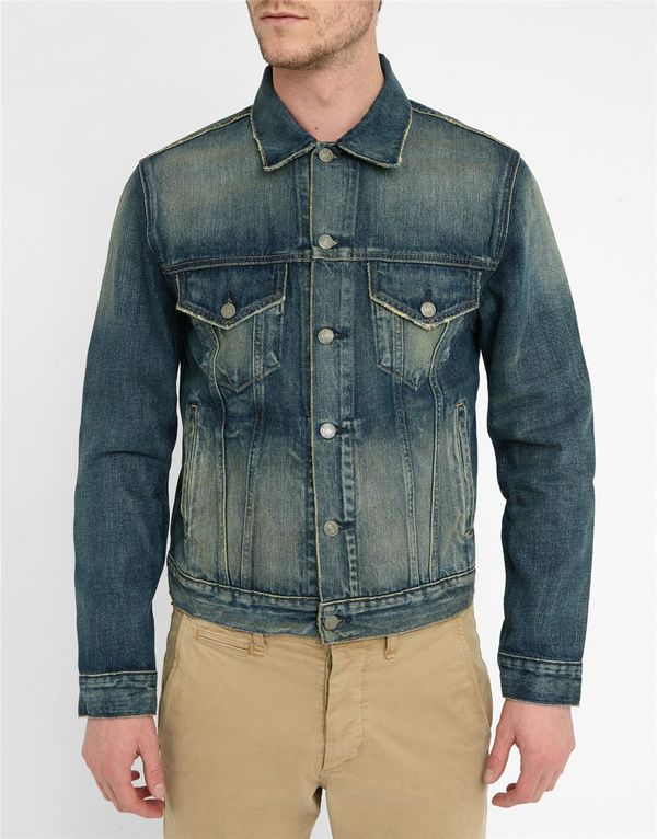 DENIM & SUPPLY RALPH LAUREN, Knickerson Raw Rinsed Denim Trucker Jacket