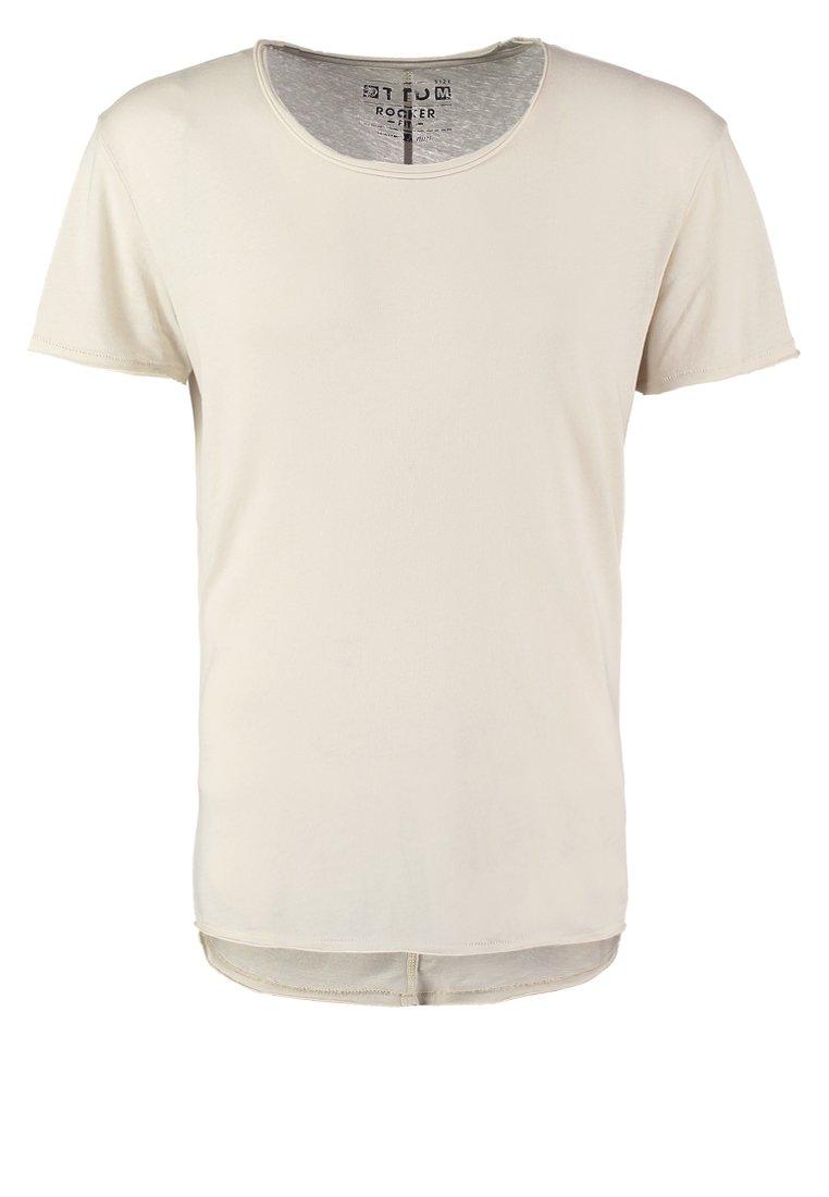 TOM TAILOR DENIM ROCKER FIT Camiseta básica soft beige solid