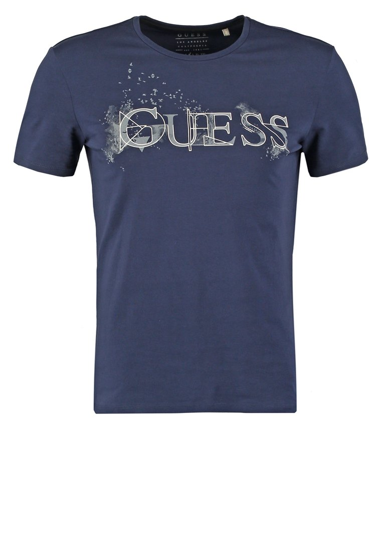 Guess LET IT GO Camiseta print dark blue