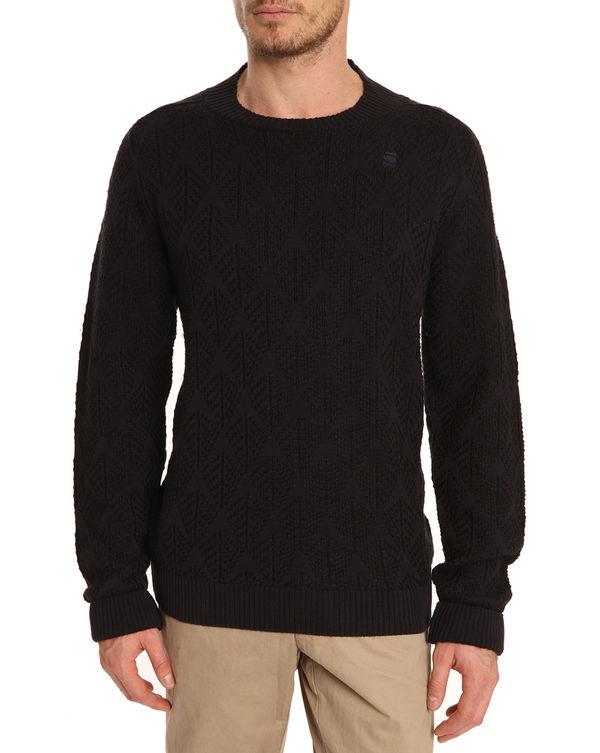 G-STAR, Away Navy Jacquard Sweater