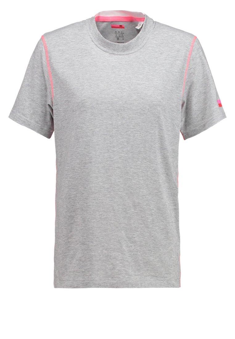 adidas Performance Camiseta de deporte medium grey heather/turbo