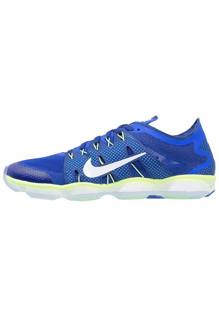 Nike Performance ZOOM FIT AGILITY 2 Zapatillas fitness e indoor racer blue/white/deep royal blue/ghost green