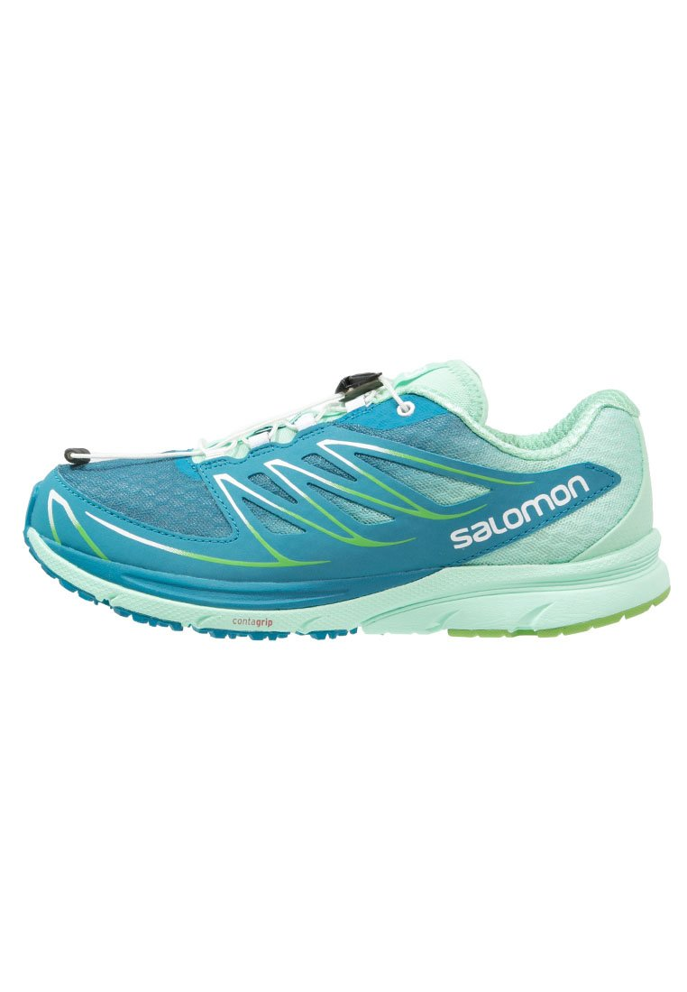 Salomon SENSE MANTRA 3  Zapatillas trail fog blue/lucite green/tonic green