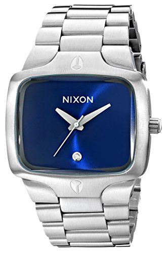 Nixon The Player A1401258-00 - Reloj analógico de cuarzo unisex, correa de acero inoxidable color plateado