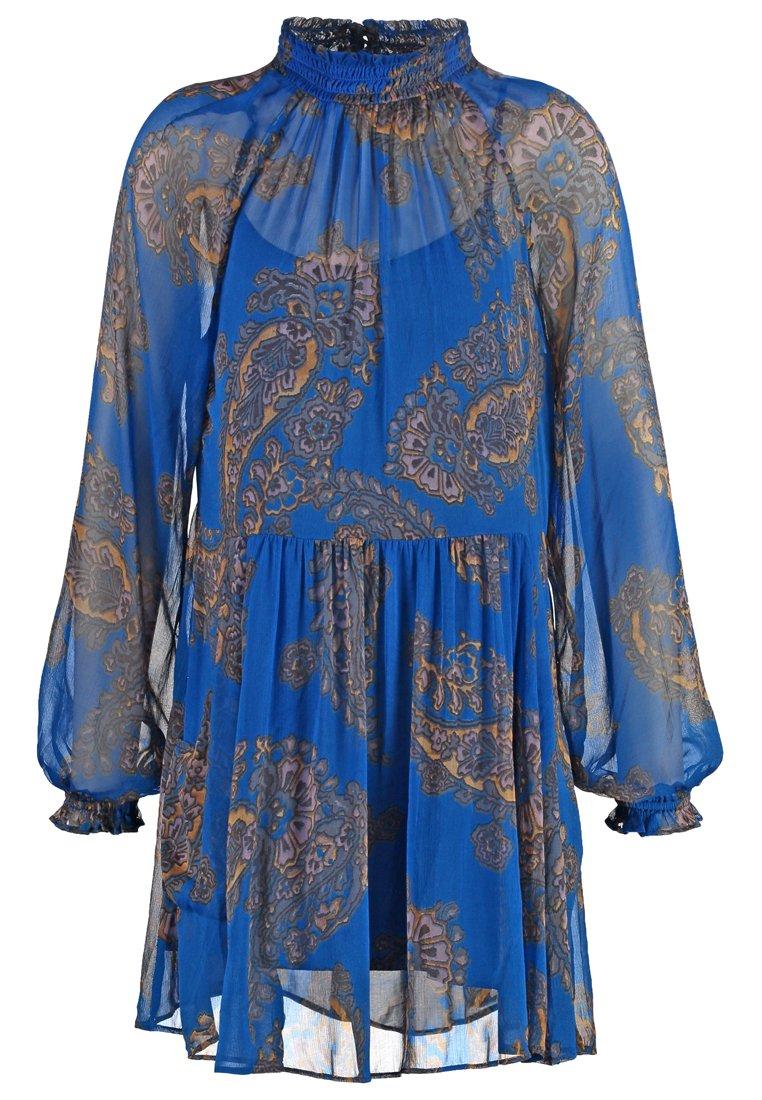 Free People Vestido informal cobalt combo