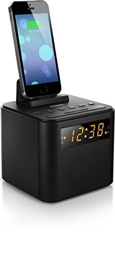Philips AJ3200/12 - Radiodespertador (Puerto dock para iPhone 4, iPhone 4S, iPhone 5), negro