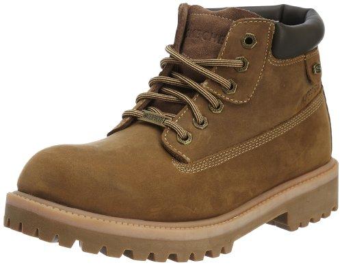 Skechers SergeantsVerdict 4442 DSCH - Botas de cuero nobuck para hombre, color marrón, talla 41