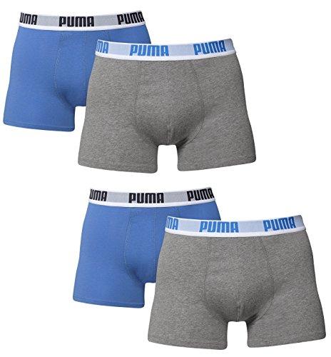 Puma Boxer Basic b8383pinl 4unidades en diferentes colores 521015001 blau/grau (417) Talla:L