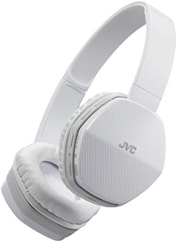 JVC HA-SBT5-W - Auriculares de diadema con Bluetooth, color negro y azul