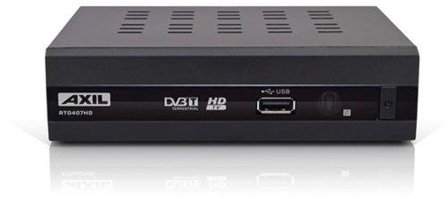 Engel Axil RT0407HD tV set-top boxes - Reproductor/sintonizador (Terrestrial, DVB, 720 x 576, 1280 x 720, 1920 x 1080 Pixeles, H.264, MKV, MPEG2, MP3, JPS) Negro