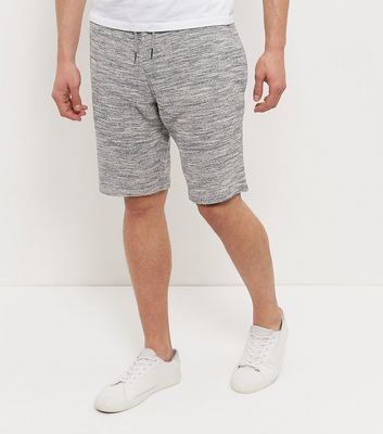 Grey Textured Knitted Shorts