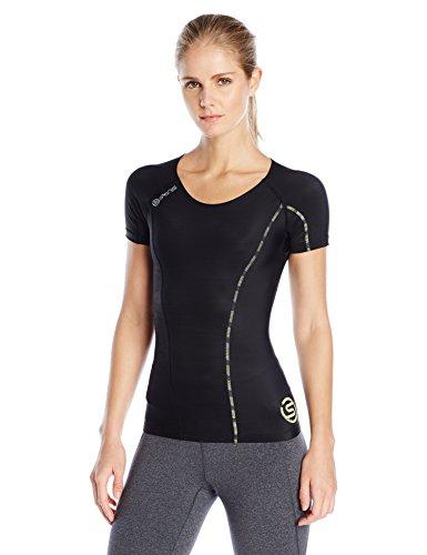 MusicSkins Mujer Top Short Sleeve dnamic Varios colores Black/Limoncello