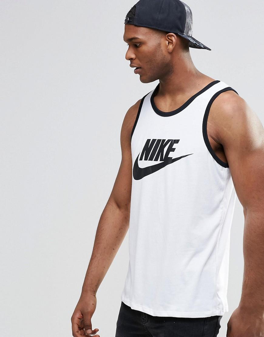 Camiseta sin mangas con logo en blanco Ace 779234-100 de Nike