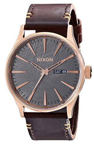 Nixon A1052001-00 - Reloj de pulsera hombre, Cuero, color Marrón
