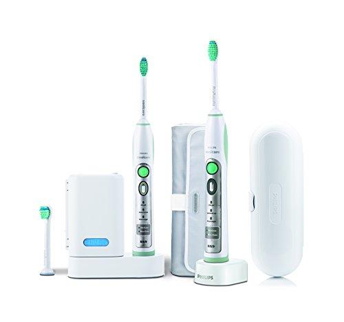 Philips HX 6932/34 Sonicare Flexcare - Cepillo de dientes eléctrico por ultrasonidos (2 mangos, 3 cabezales de repuesto estándar)