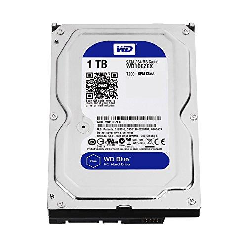WD Blue WD10EZEX - Disco duro para ordenadores de sobremesa (1 TB, 7.200 rpm, SATA 6 GB/s, 64 MB de caché, 3.5