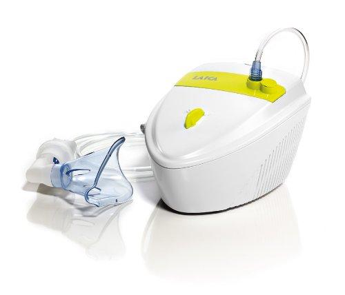 Laica NE2010 inhalador - inhaladores (200 x 155 x 110 mm, 1.3 kg) Verde, Color blanco