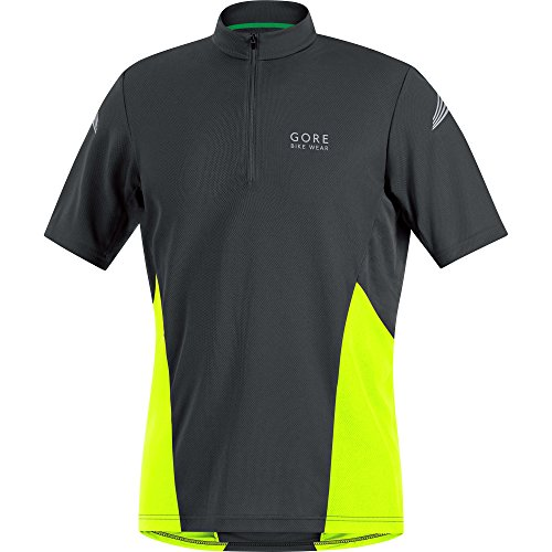 Gore Bike Wear Element MTB - Maillot para hombre, color negro / amarillo neón, talla L