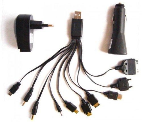 L-Link LL-CAB - Cargador universal USB 12 en 1, negro