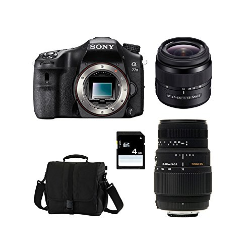 SONY Alpha 77 II + 18-55 SAM + SIGMA 70-300 DG + Sac + Carte SD 4 Go