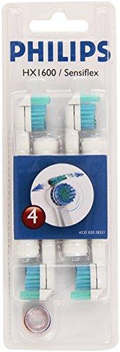 Philips HX2014/30 Sonicare Sensiflex - Cabezales para cepillo de dientes eléctrico (4 unidades)