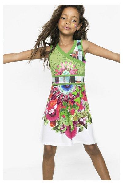 6716fd437 Desigual - Mujer - Vestido verde de tirantes para niña - Bloemfontein -  Size 5 6