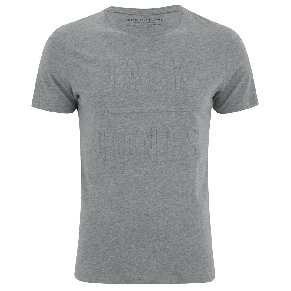 Jack & Jones Men's Gary T-Shirt - Light Grey Melange - L