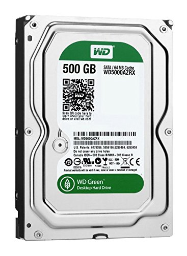 Western Digital Caviar Green - Disco duro interno de 500 GB (Serial ATA, 3.5