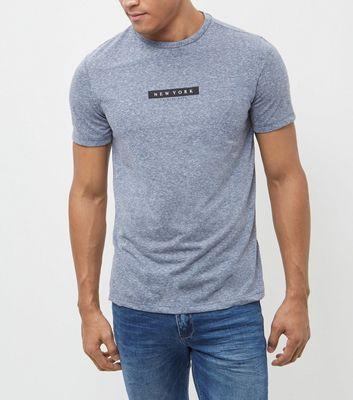 Blue New York Print T-Shirt
