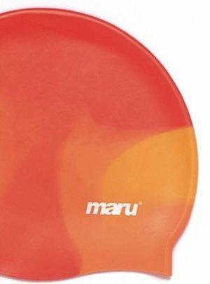 Maru - Gorro de natación de silicona Orange Shades
