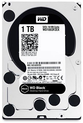 WD Black - Disco duro de alto rendimiento para ordenadores de sobremesa de 1 TB (7200 rpm, SATA a 6 Gb/s, 64 MB de caché, 3,5