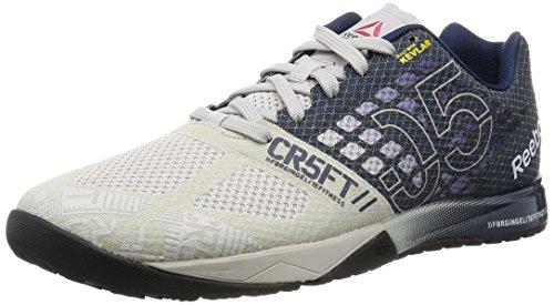 Reebok R Crossfit Nano 5.0 Zapatillas de deporte, Gris / Azul / Negro (Steel/Collegiate Navy/Black), 43