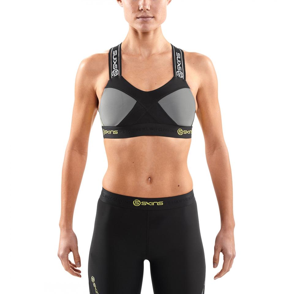 Skins DNAmic Women's Speed Crop Top - Black/Limoncello - XS