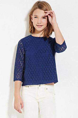 Top Floral Crochet - Niña
