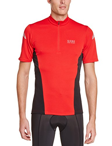 Gore Bike Wear Element MTB - Maillot para hombre, color rojo / negro, talla XL