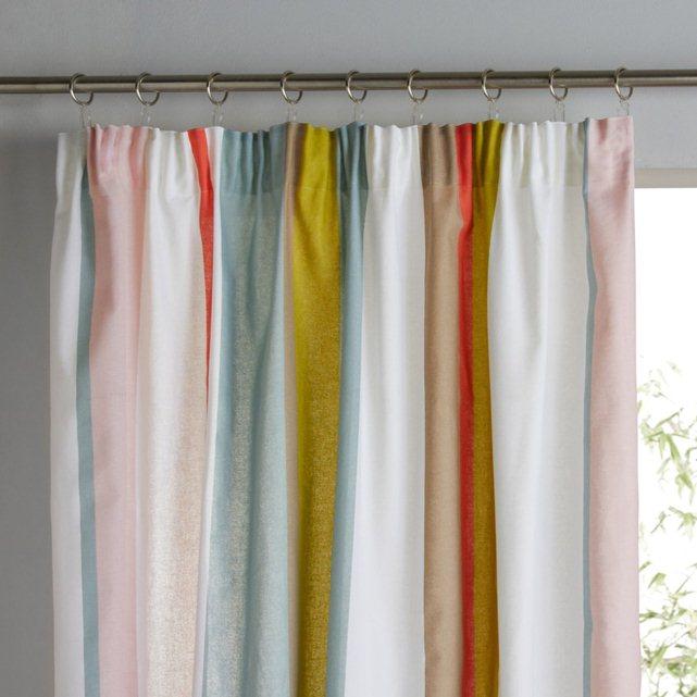 Cortina a rayas acabado con gal n fruncido - Dobladillo cortinas ...