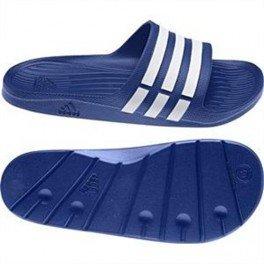 Adidas Adilette Duramo Slide chancletas de baño - G14309 azul - blanco, UK 8 - EUR 42 - 26 cm