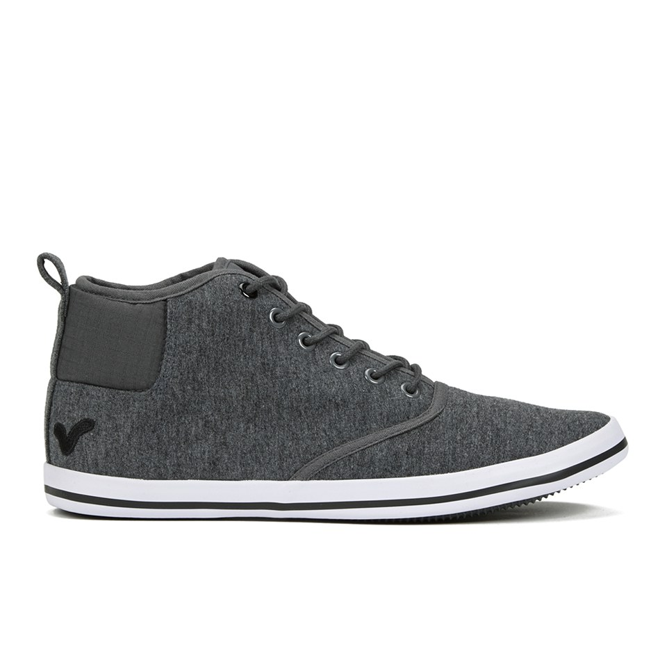 Voi Jeans Men's Cobalt Mid Trainers - Charcoal Marl - UK 9