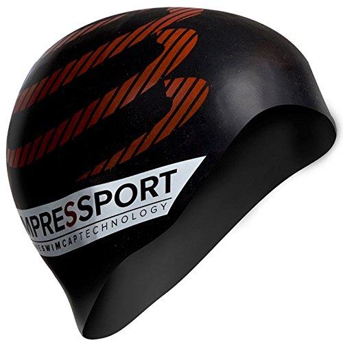 Compressport GNNCS - Gorro de natación unisex, color negro, talla única