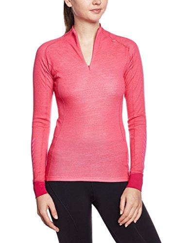 Helly Hansen W HH Warm Freeze 1/2 Zip - Top interior térmico para mujer, color magenta, talla L