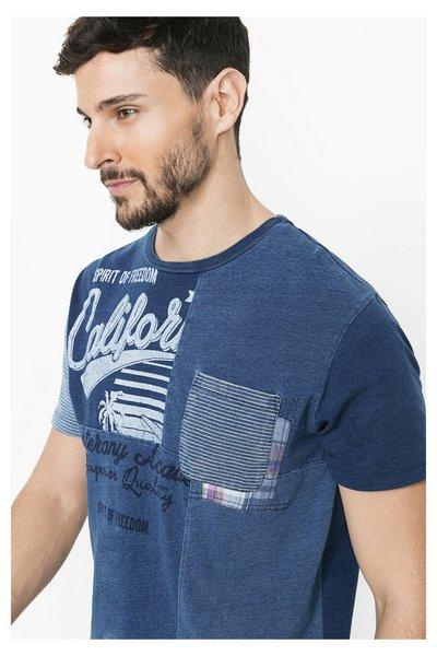 Desigual - Hombre - Camiseta de manga corta con bolsillo - Alec - Size S