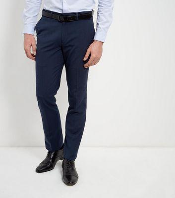 Navy Slim Leg Trousers