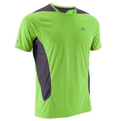 Camiseta Running hombre Elio verde gris KALENJI