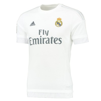 3757164bf5484 Camiseta de fútbol réplica adulto Real Madrid local blanco ADIDAS ...