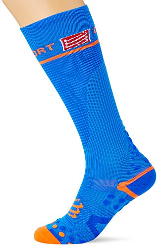 Compressport Full V2.1 - Calcetines unisex, color azul, talla 3M
