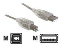 DeLOCK - Cable USB (USB A, USB B, Macho/Macho, Gris)